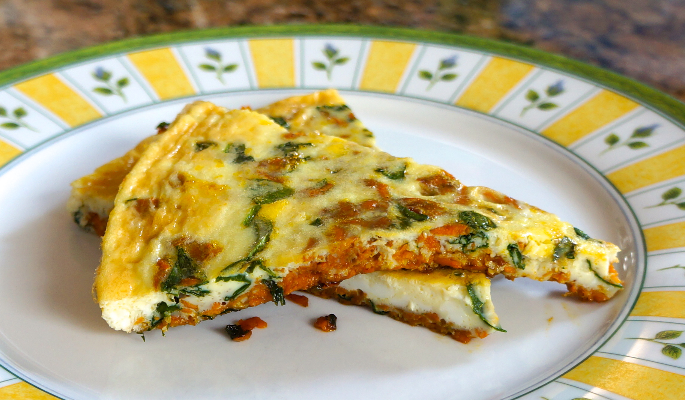 Sweet Potato Spinach Frittata – Half Indian Cook