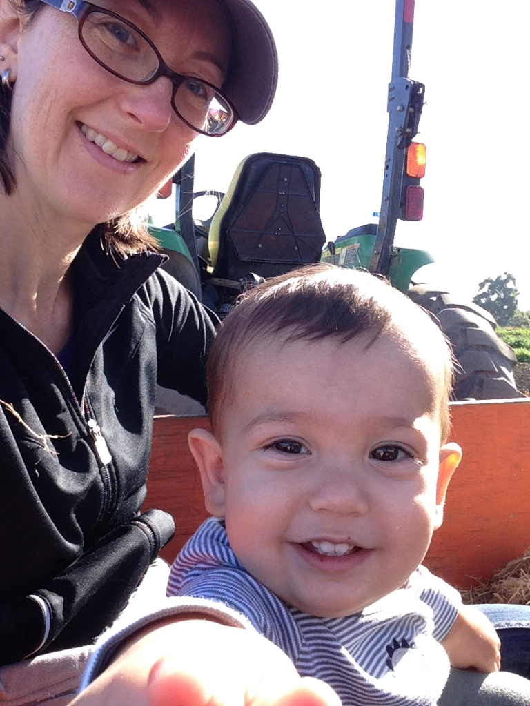 Me and L (13 months old) on a hay ride