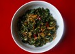 Spicy Kale with Toasted Coconut